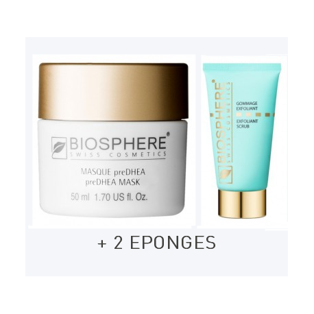 MASQUE PRE DHEA+GOMMAGE+2 EPONGES