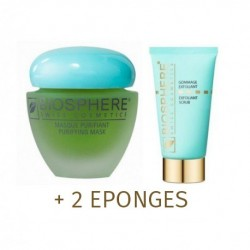 LOT MASQUE PURIFIANT+GOMMAGE+PINCEAU